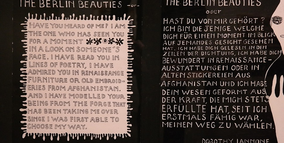 BERLINISCHE GALERIE: DOROTHY IANNONE. THIS SWEETNESS OUTSIDE OF TIME